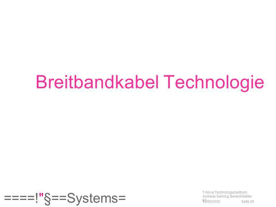 Breitbandkabel Technologie