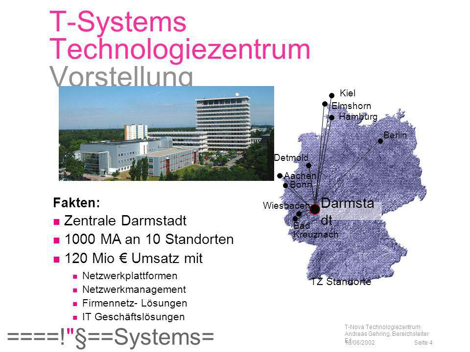 T-Systems Technologiezentrum Vorstellung