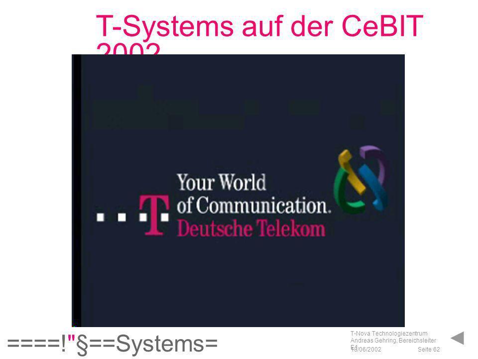 """T-Systems auf der CeBIT 2002 """"Gates (MPEG-1)"""