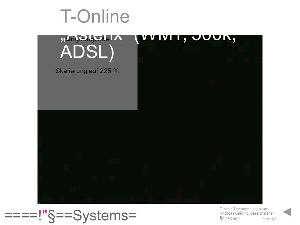 """T-Online """"Asterix (WMT, 300k, ADSL)"""