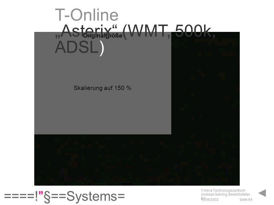 """T-Online """"Asterix (WMT, 500k, ADSL)"""