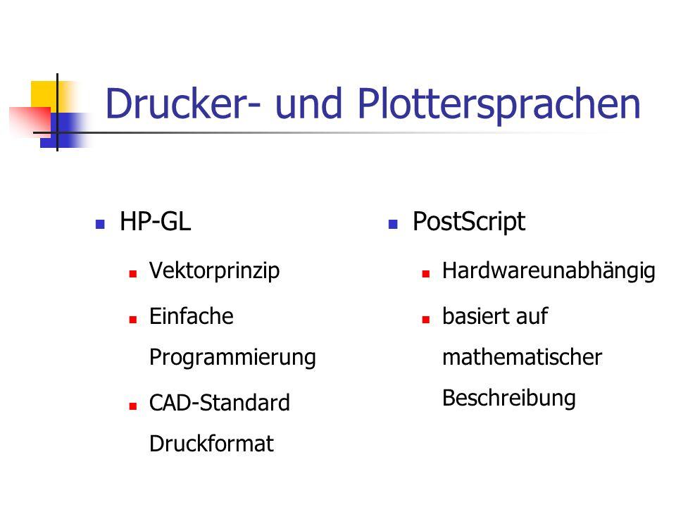 Drucker- und Plottersprachen