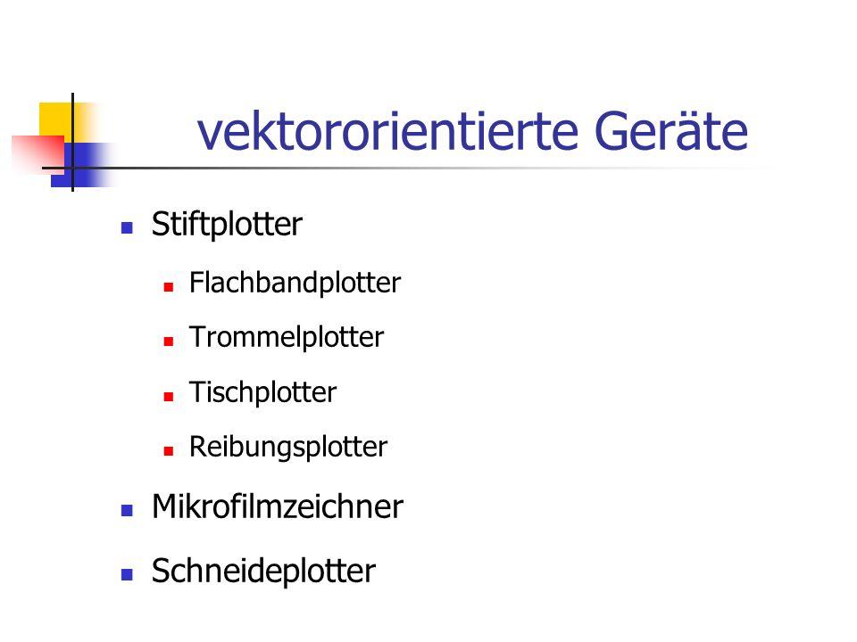 vektororientierte Geräte