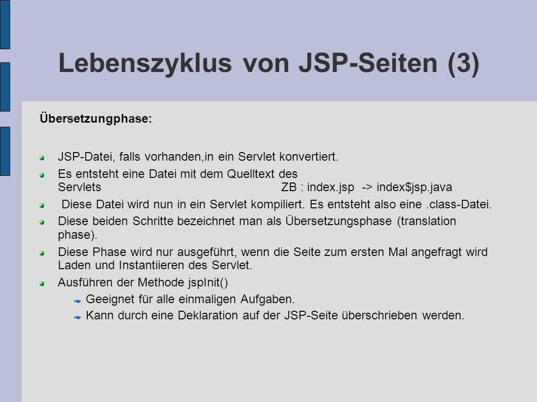 Lebenszyklus von JSP-Seiten (3)