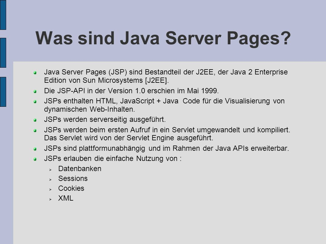 Was sind Java Server Pages