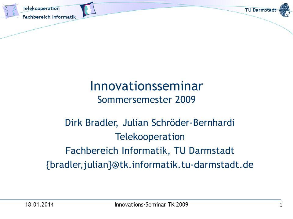 Innovationsseminar Sommersemester 2009