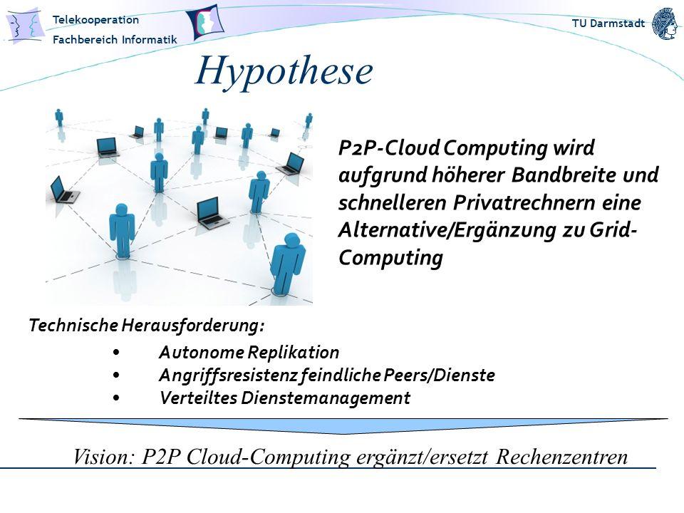 Vision: P2P Cloud-Computing ergänzt/ersetzt Rechenzentren