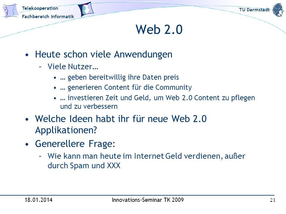 Innovations-Seminar TK 2009