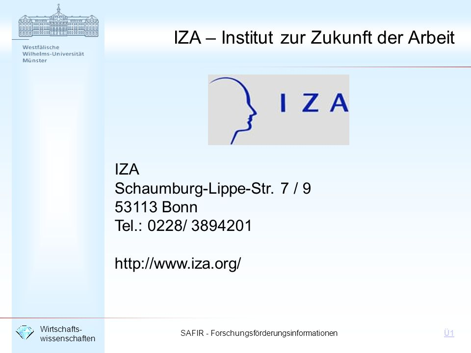 IZA – Institut zur Zukunft der Arbeit