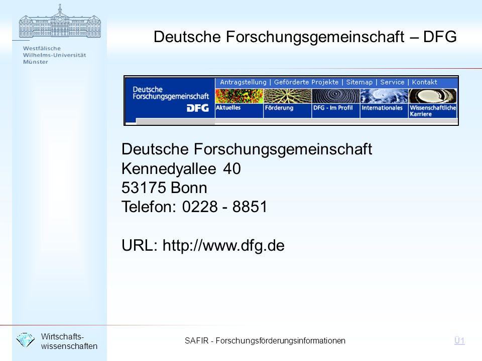 Deutsche Forschungsgemeinschaft – DFG