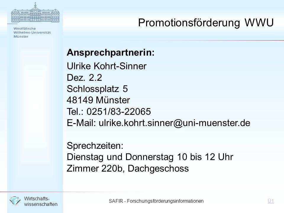 Promotionsförderung WWU