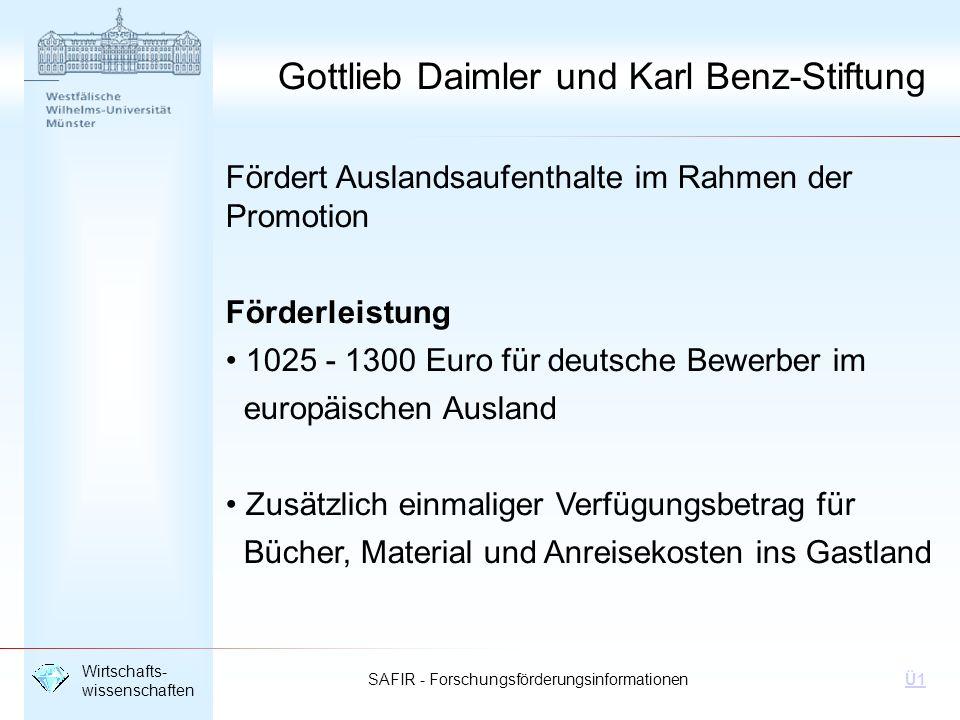 Gottlieb Daimler und Karl Benz-Stiftung