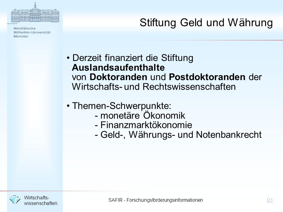Stiftung Geld und Währung