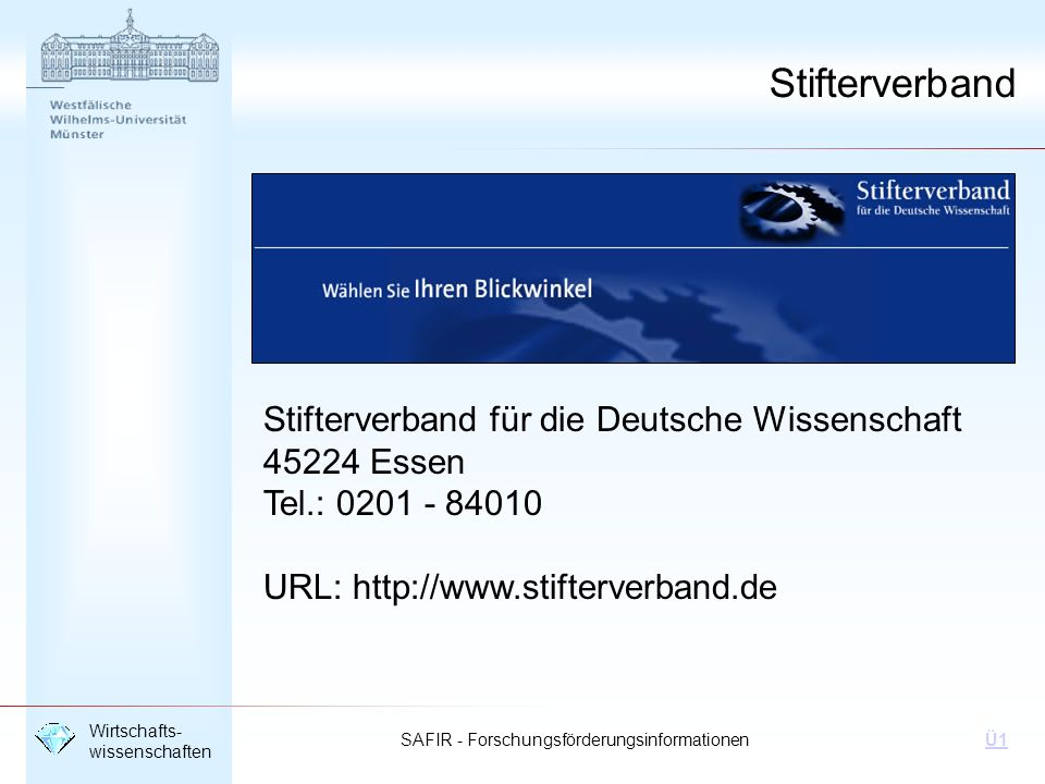 Stifterverband Stifterverband für die Deutsche Wissenschaft
