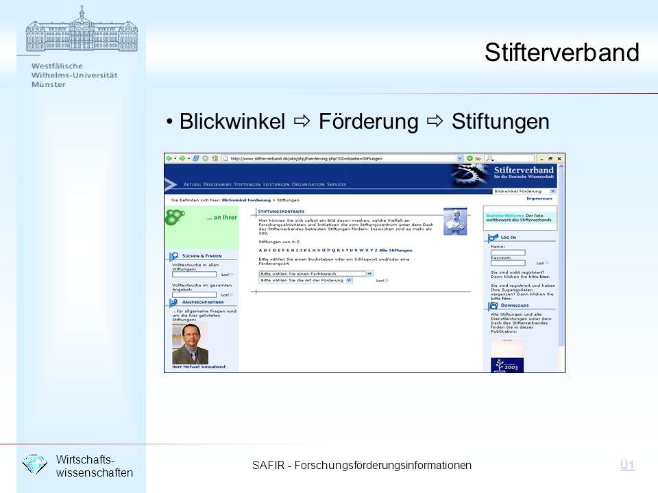 Stifterverband Blickwinkel  Förderung  Stiftungen