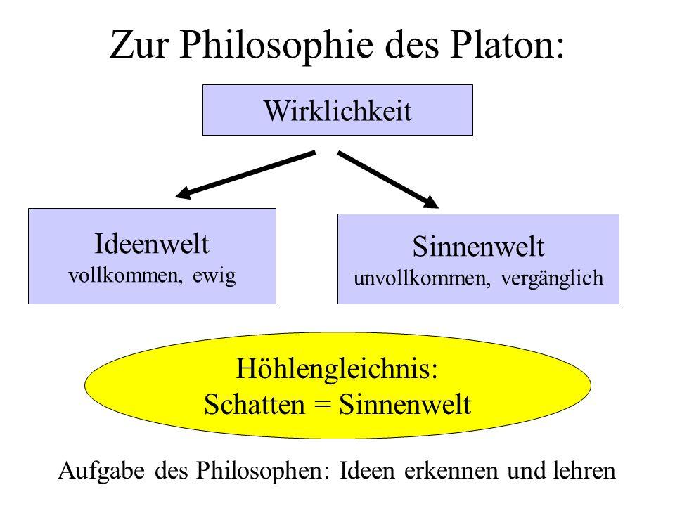 Zur Philosophie des Platon: