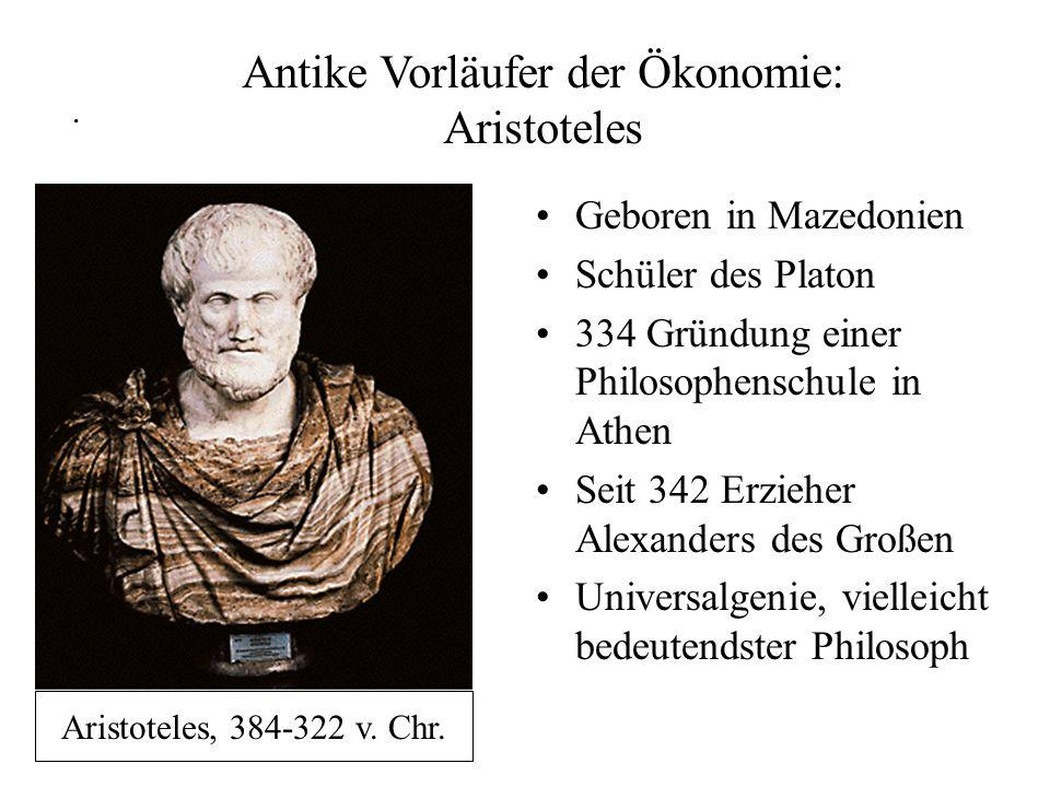 Antike Vorläufer der Ökonomie: