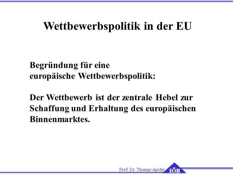Wettbewerbspolitik in der EU