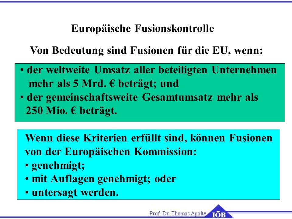 Europäische Fusionskontrolle