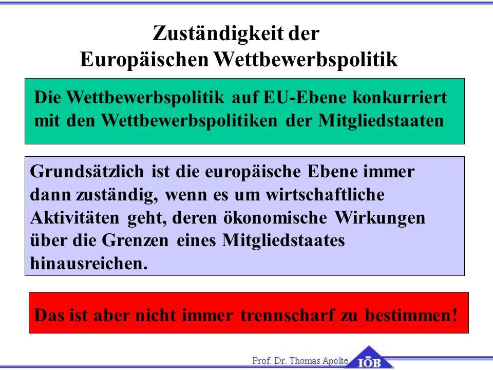 Europäischen Wettbewerbspolitik