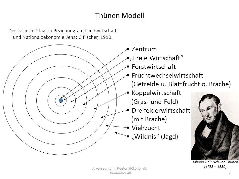 """Thünen Modell Zentrum """"Freie Wirtschaft Forstwirtschaft"""