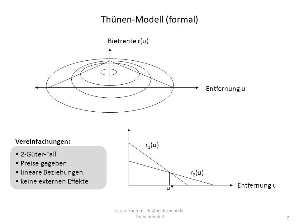 Thünen-Modell (formal)
