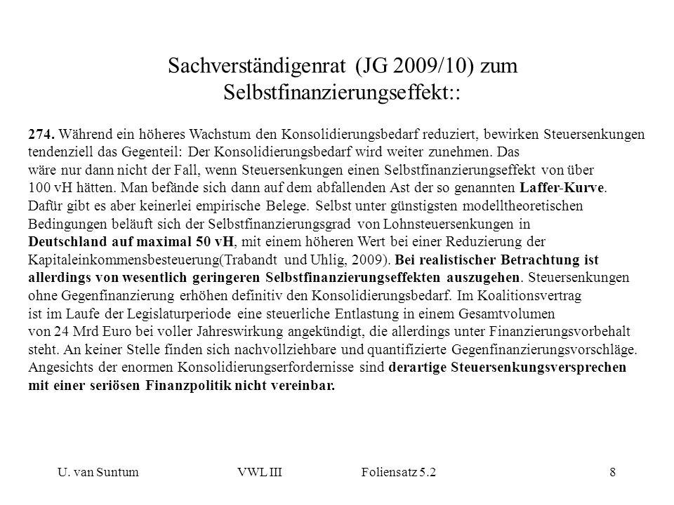 Sachverständigenrat (JG 2009/10) zum Selbstfinanzierungseffekt::