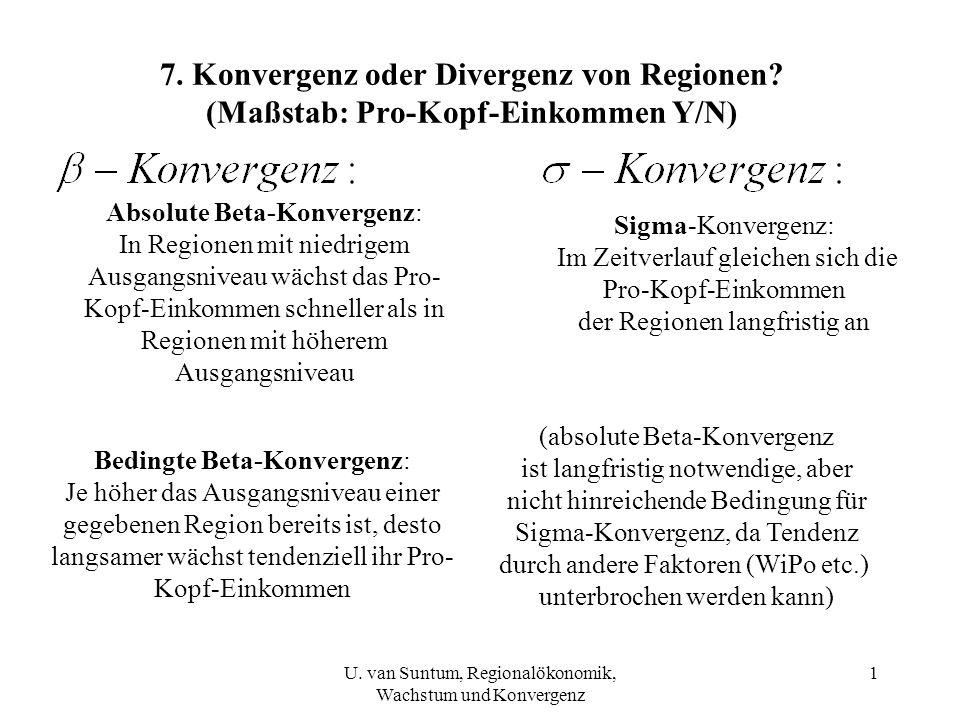 7. Konvergenz oder Divergenz von Regionen