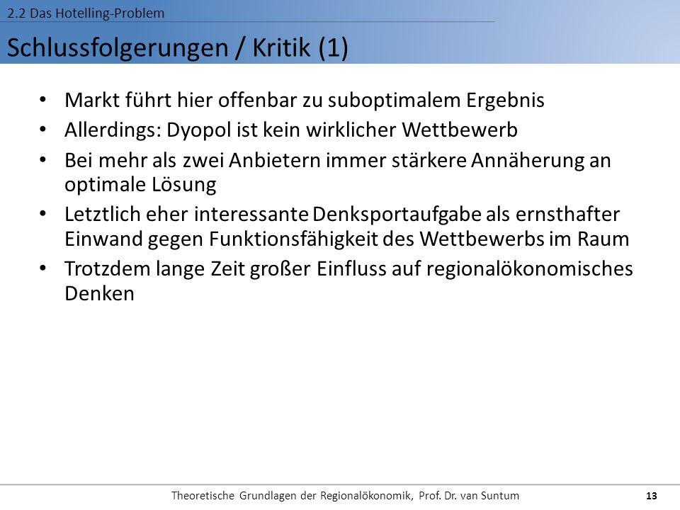Schlussfolgerungen / Kritik (1)