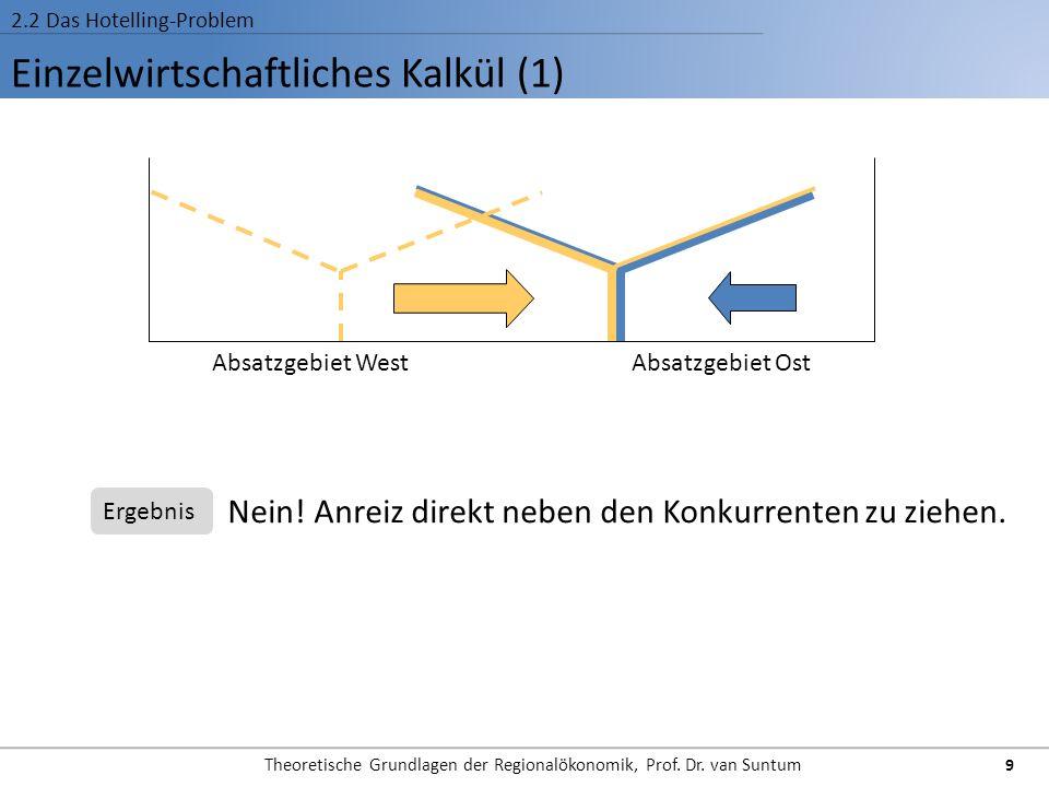 Einzelwirtschaftliches Kalkül (1)