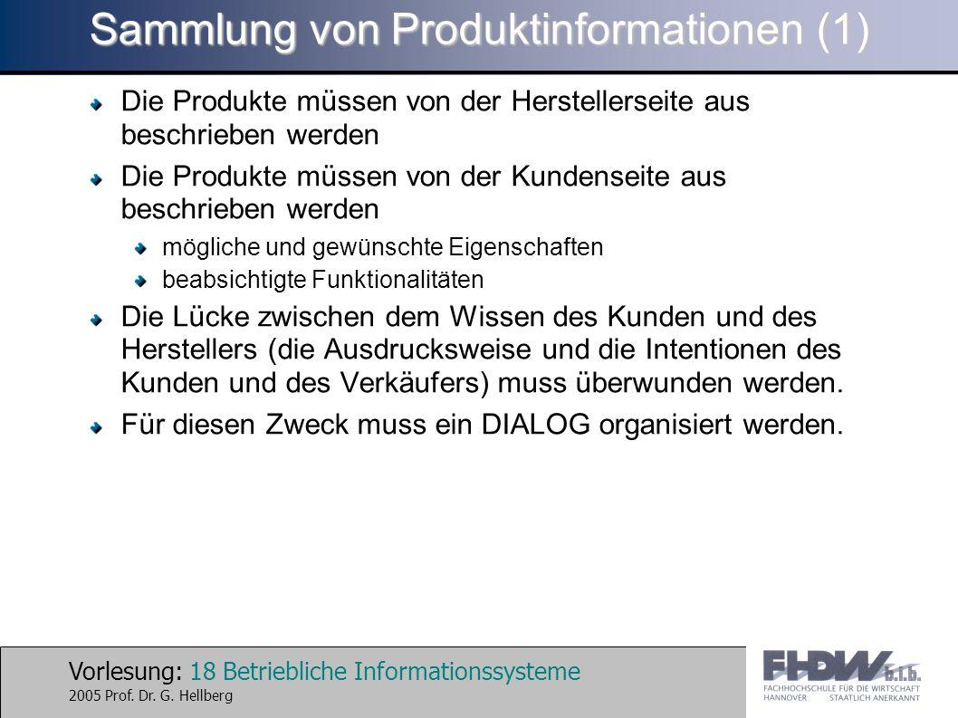 Sammlung von Produktinformationen (1)