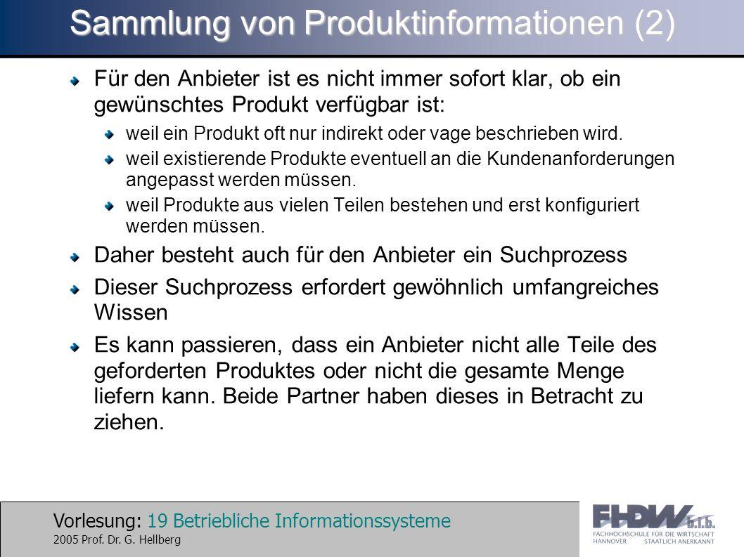 Sammlung von Produktinformationen (2)
