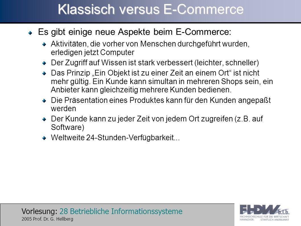 Klassisch versus E-Commerce
