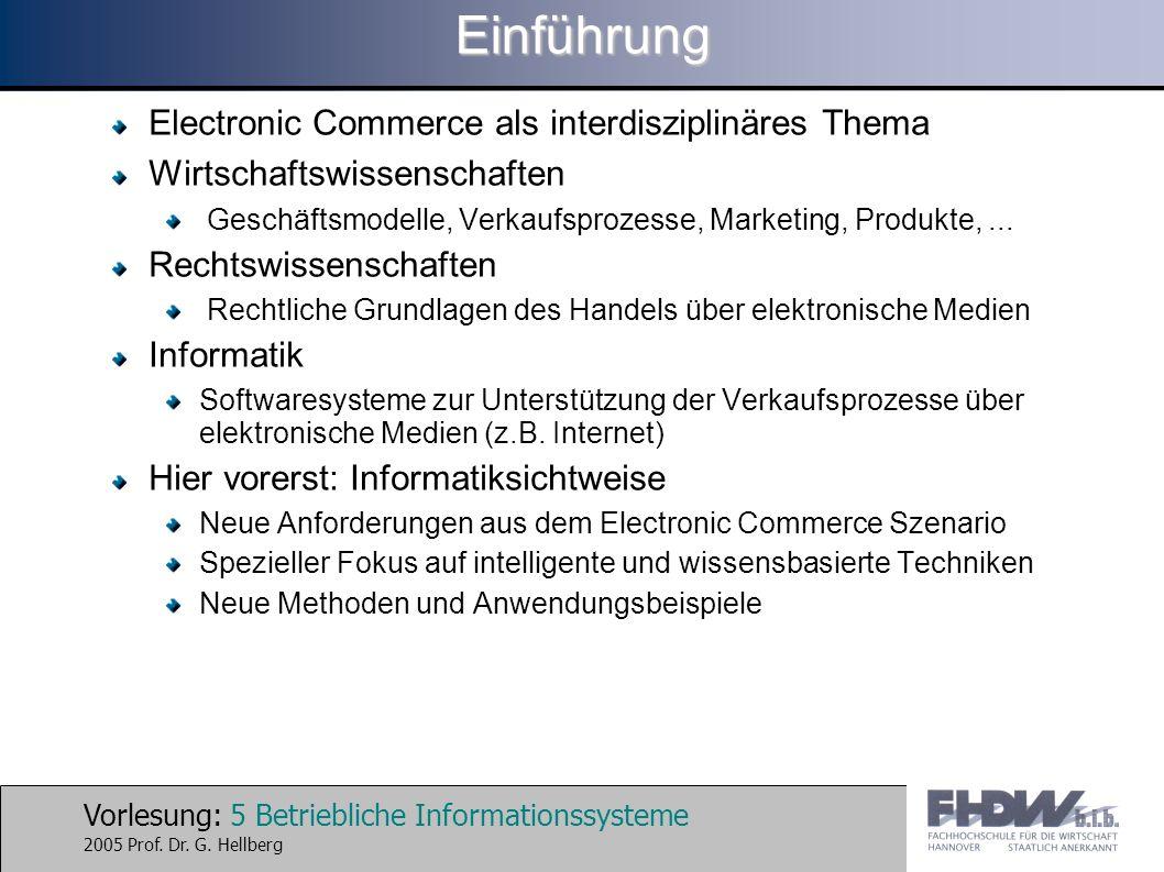 Einführung Electronic Commerce als interdisziplinäres Thema