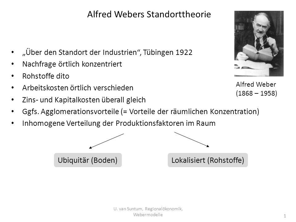 Alfred Webers Standorttheorie