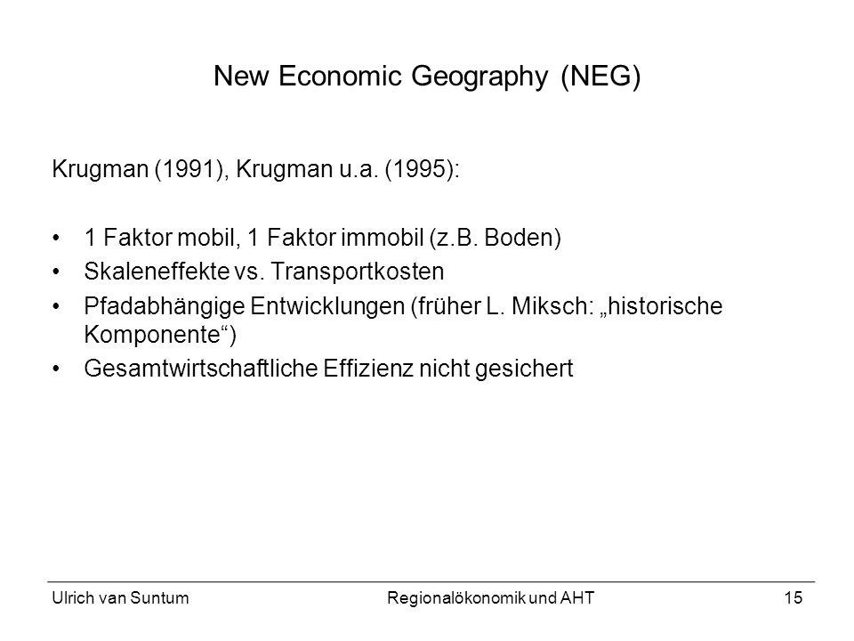 New Economic Geography (NEG)