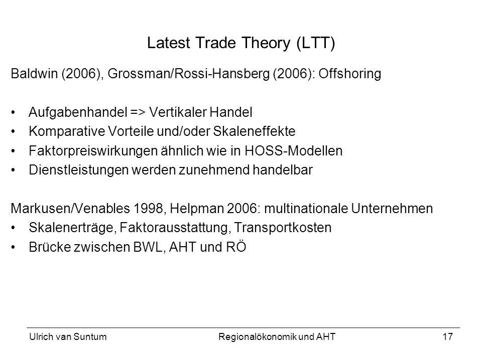 Latest Trade Theory (LTT)