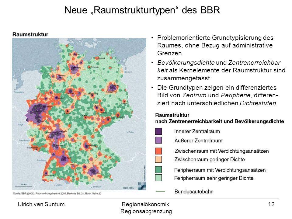 """Neue """"Raumstrukturtypen des BBR"""