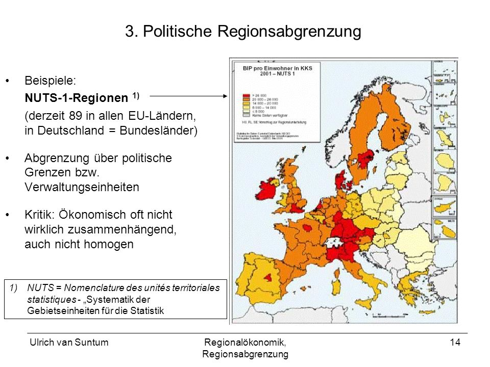 3. Politische Regionsabgrenzung