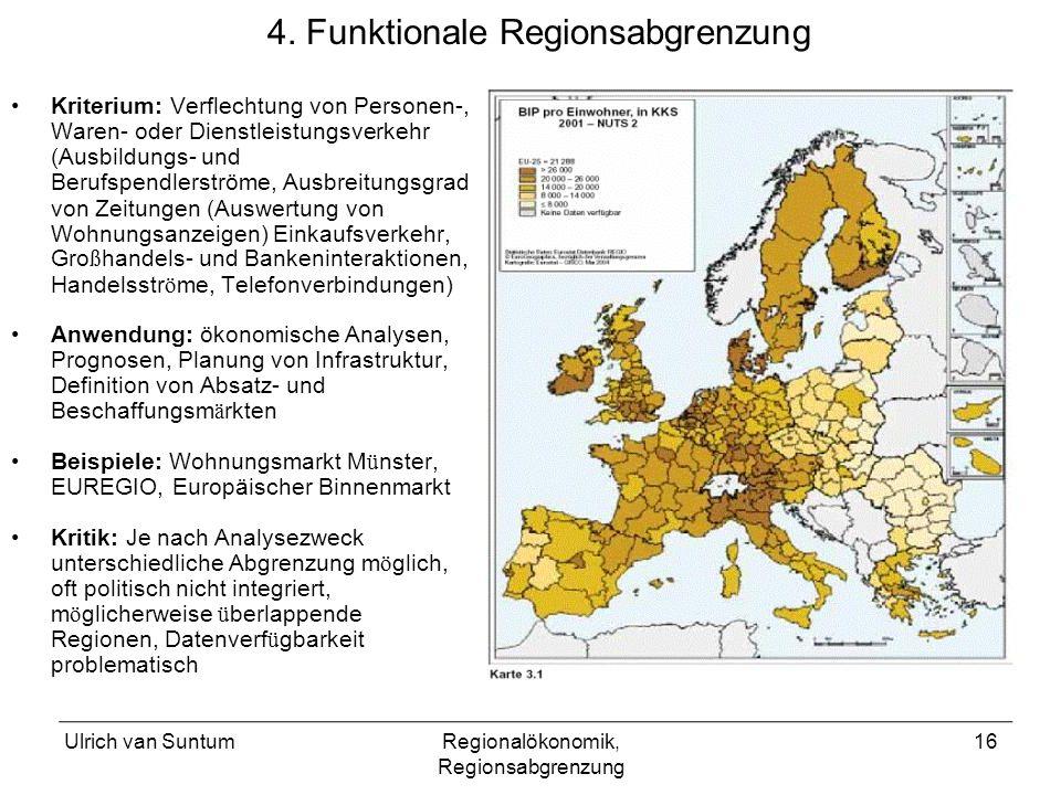 4. Funktionale Regionsabgrenzung