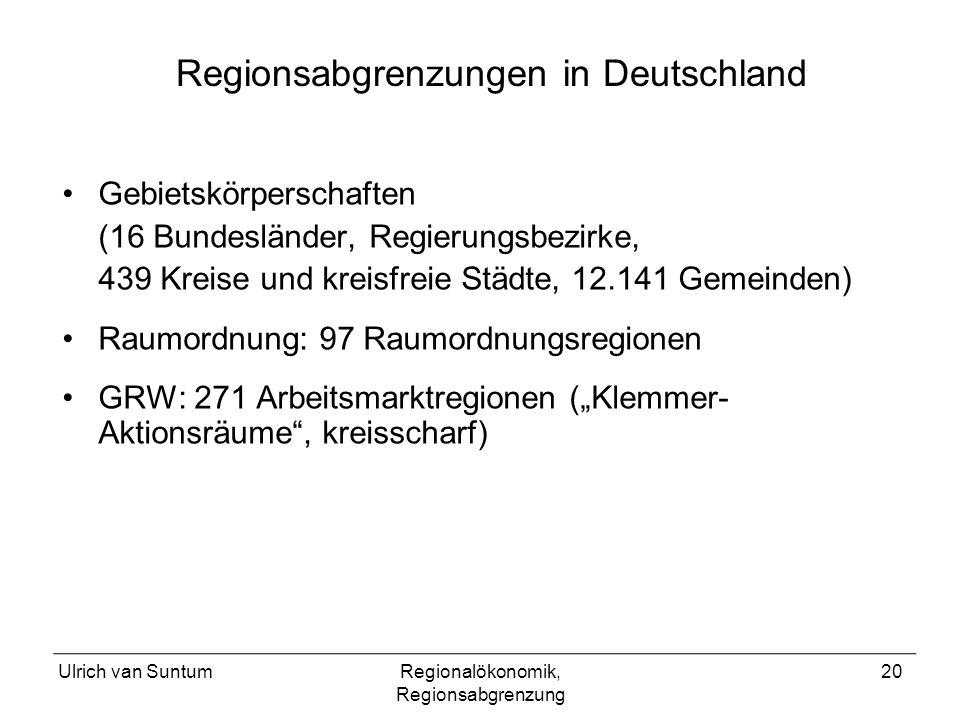 Regionsabgrenzungen in Deutschland