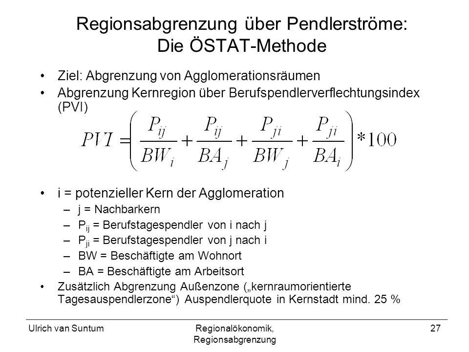 Regionsabgrenzung über Pendlerströme: Die ÖSTAT-Methode