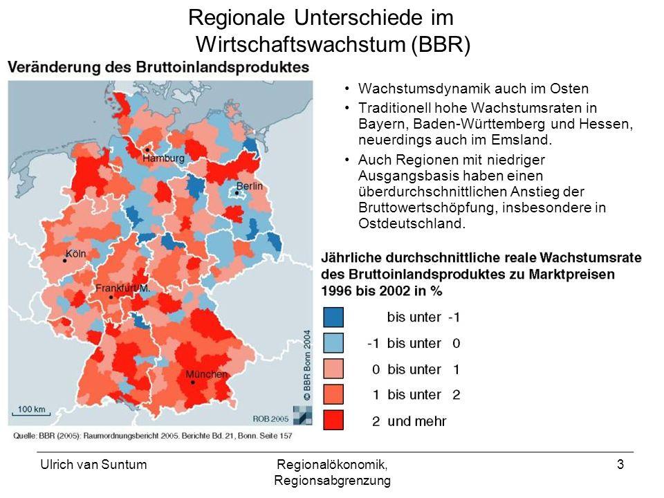 Regionale Unterschiede im Wirtschaftswachstum (BBR)