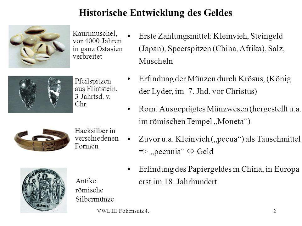 Historische Entwicklung des Geldes
