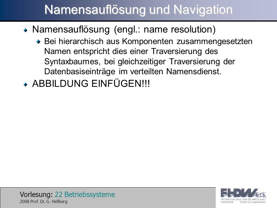 Namensauflösung und Navigation