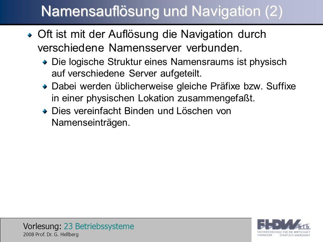 Namensauflösung und Navigation (2)