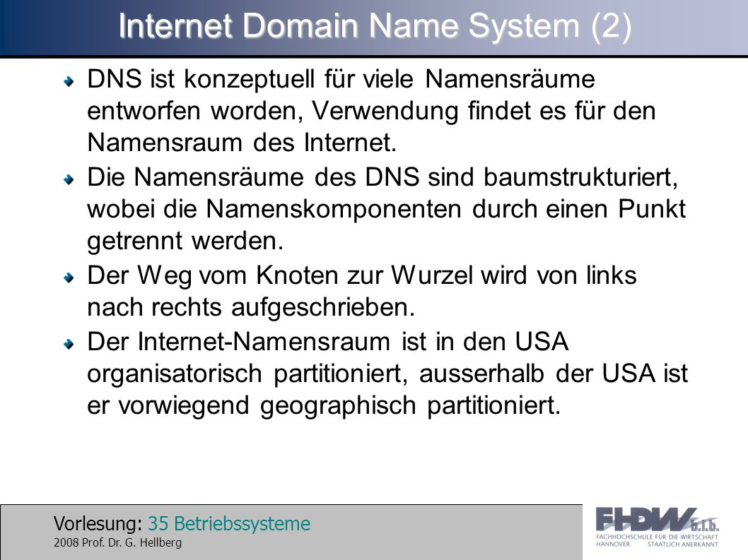 Internet Domain Name System (2)