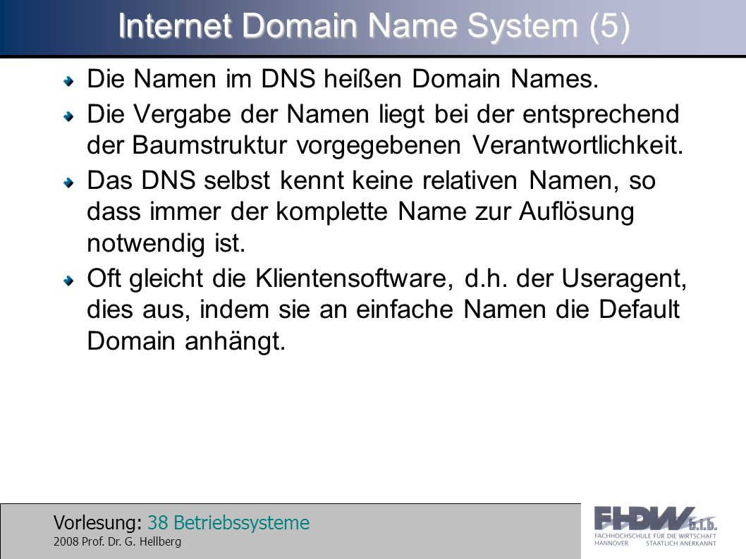 Internet Domain Name System (5)