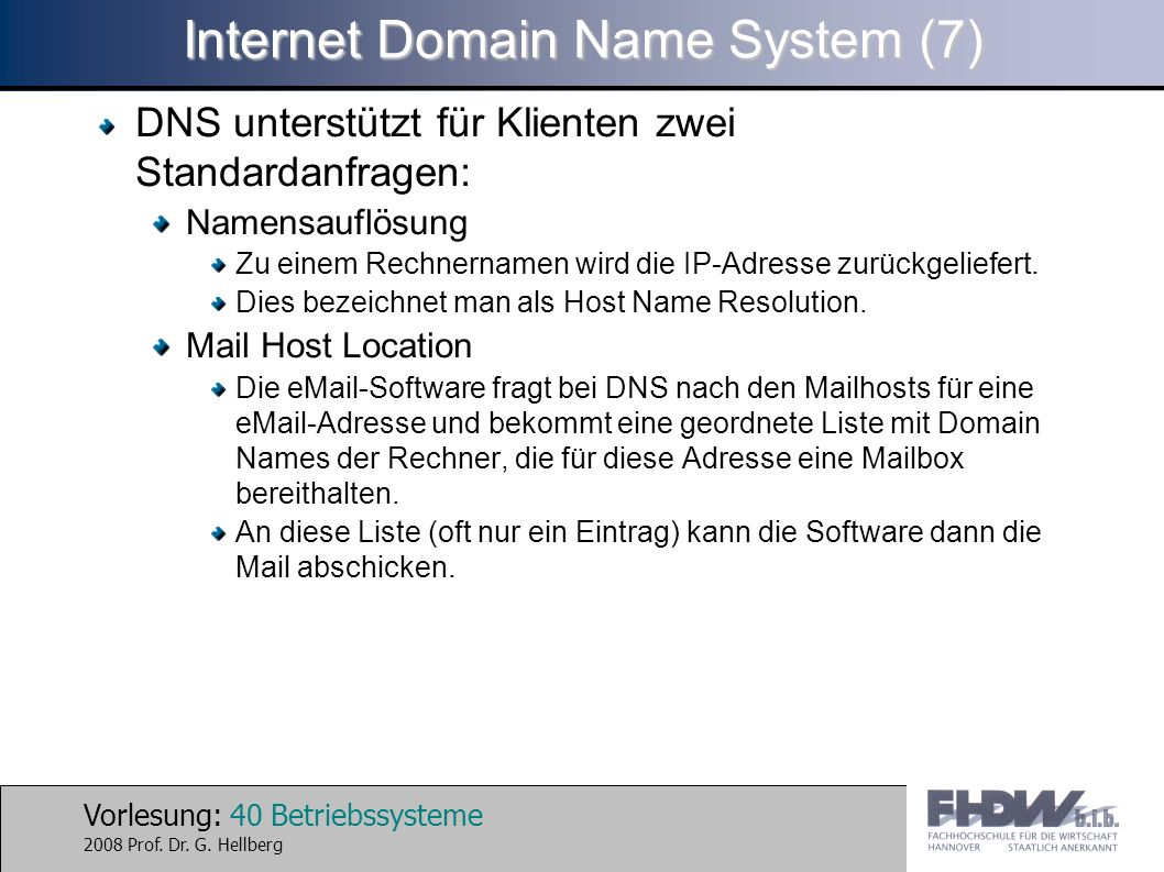 Internet Domain Name System (7)