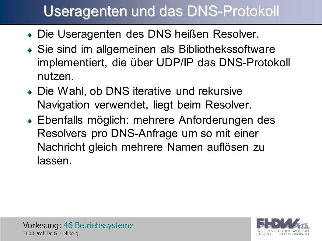 Useragenten und das DNS-Protokoll